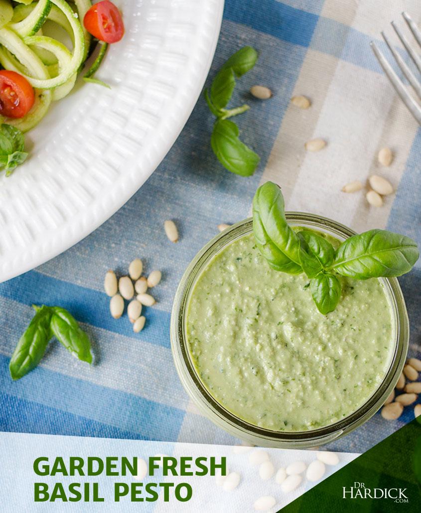 Garden Fresh Basil Pesto