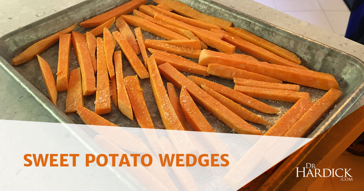 Sweet Potato Wedges - Quick & Simple Side-DIsh | DrHardick