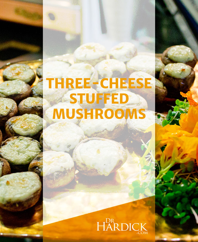 Three-cheese Stuffed Mushrooms