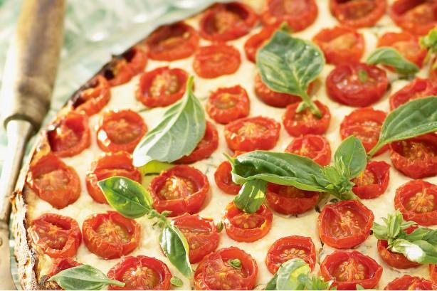 Ricotta, Tomato and Basil Torte