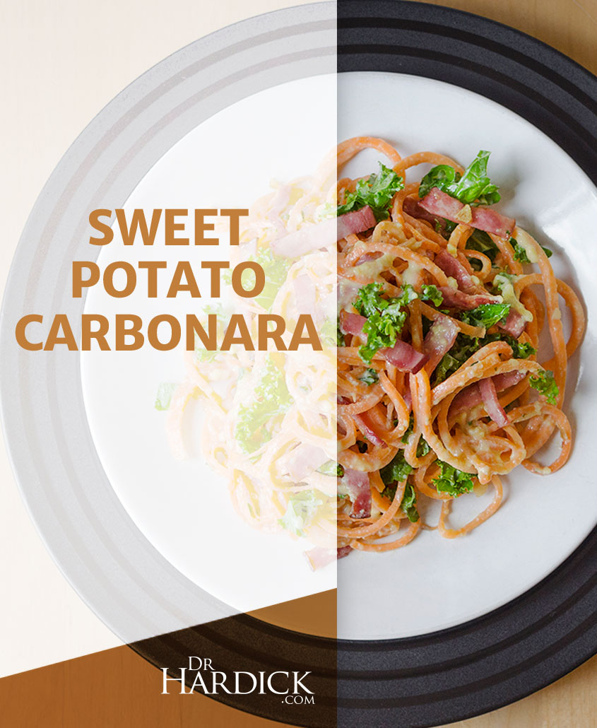 sweet potato carbonara