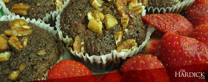 Cinnamon Strawberry Flax Muffins