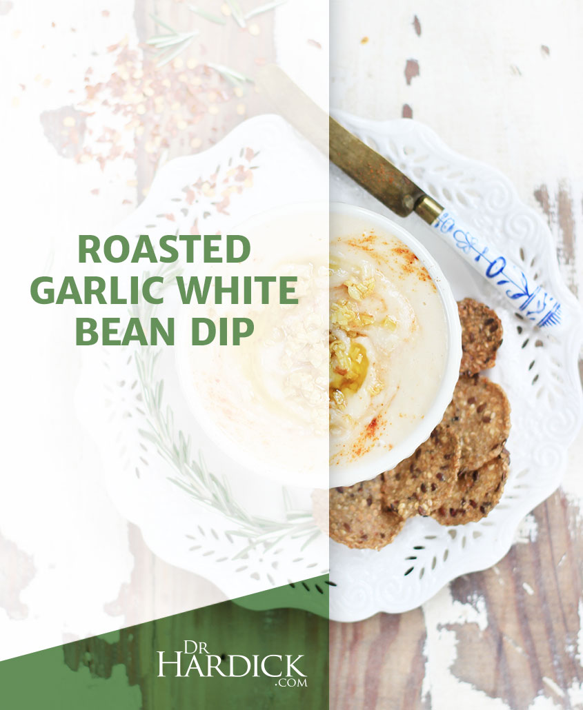 Roasted Garlic White Bean Dip