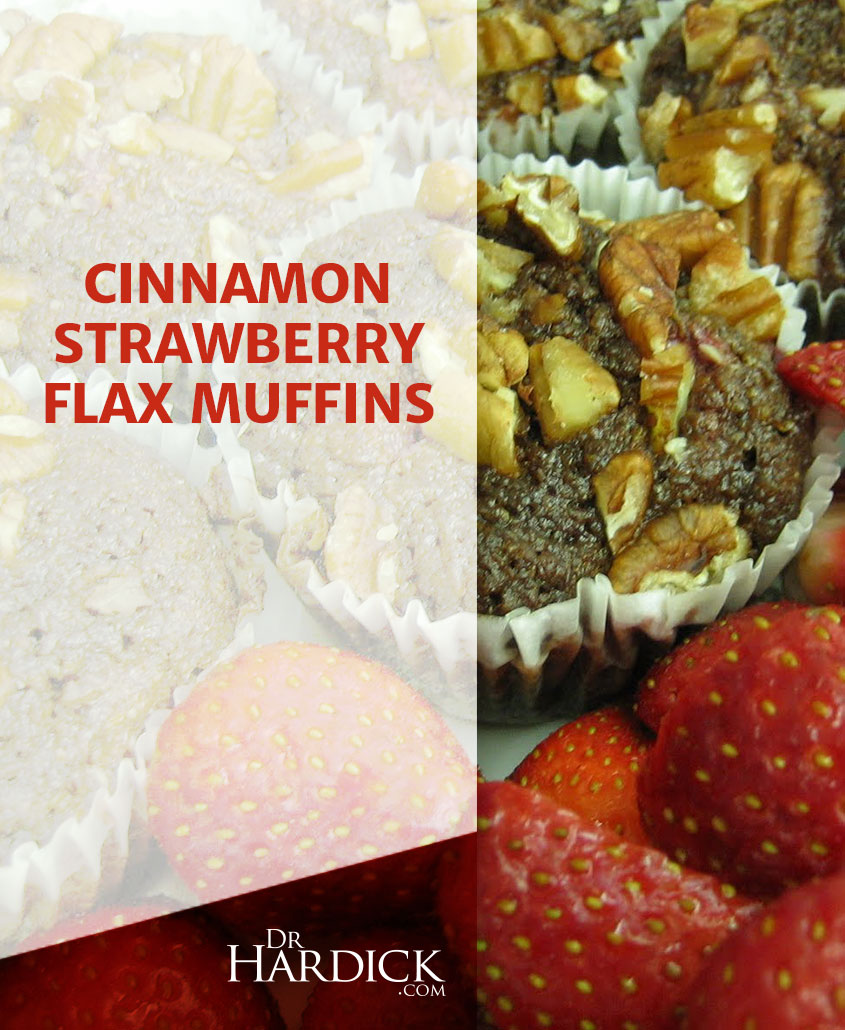 Cinnamon Strawberry Flax Muffins