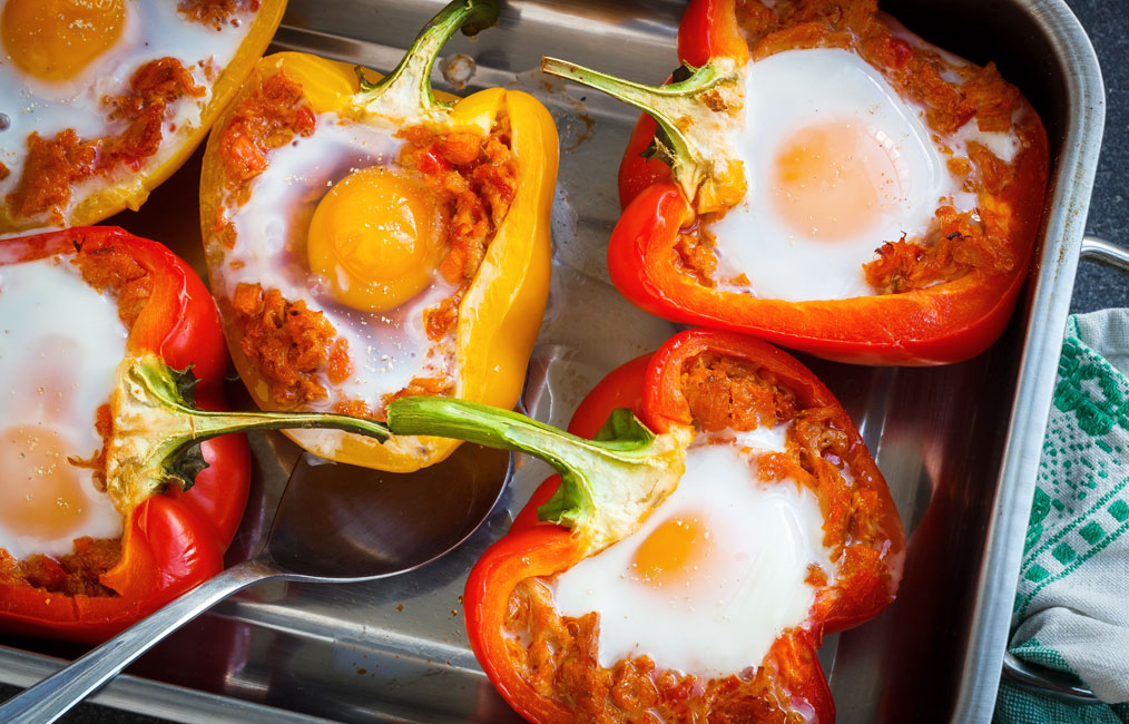 Baked Eggs in Bell Peppers