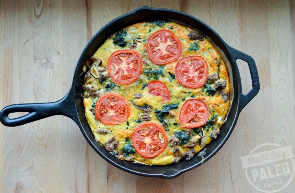 Hearty Spinach Beef Frittata