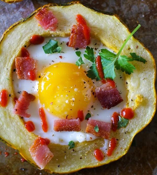 Acorn Squash Egg-in-the-hole