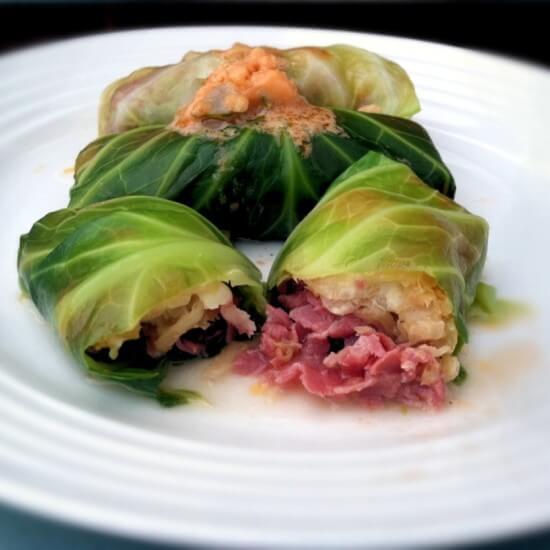 Paleo Reuben Corned Beef Cabbage Rolls