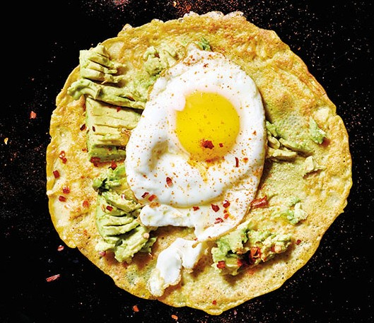 Olive Oil–Fried Egg and Smashed Avocado