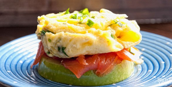 Egg, Smoked Salmon and Apple Sandwich